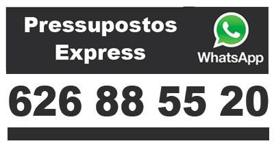 Armaripreu - Pressupost Armari a Mida Express - Whatsapp