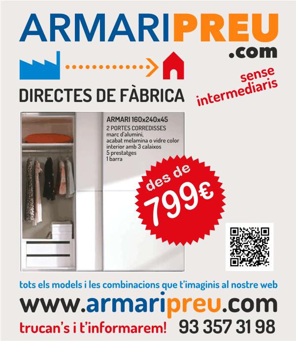 Ofertes ArmariPreu - Armaris a Mida Barcelona